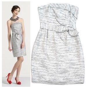 Kate Spade Silver Party Dress Metallic Threads